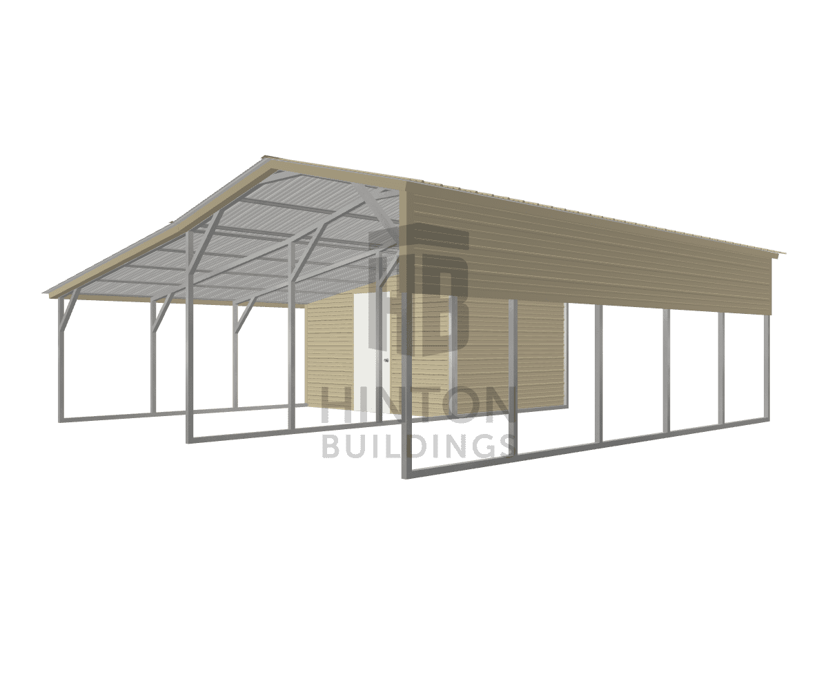 Ryan from Campobello, SC designed this 12,12x25,25x8,6 building with our 3D Building Designer.