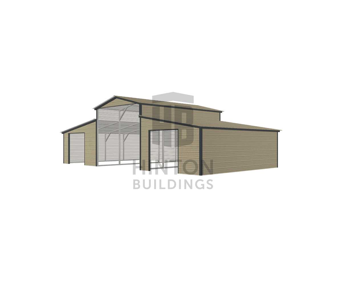 Vernon from Raleigh, NC designed this 12,12,12x20,20,20x10,6,6 building with our 3D Building Designer.