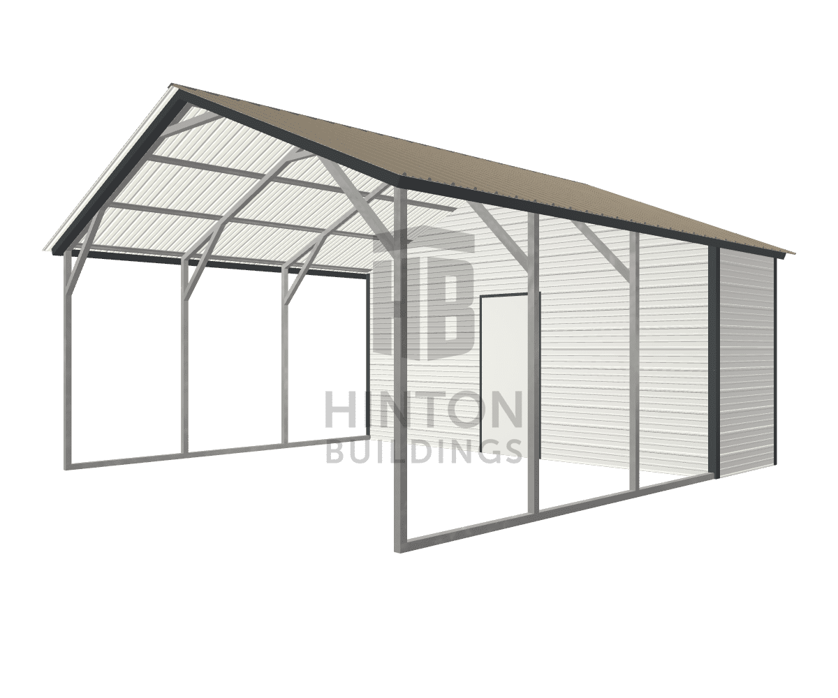 Miichael from Clayton, NC designed this 18x20x8 building with our 3D Building Designer.
