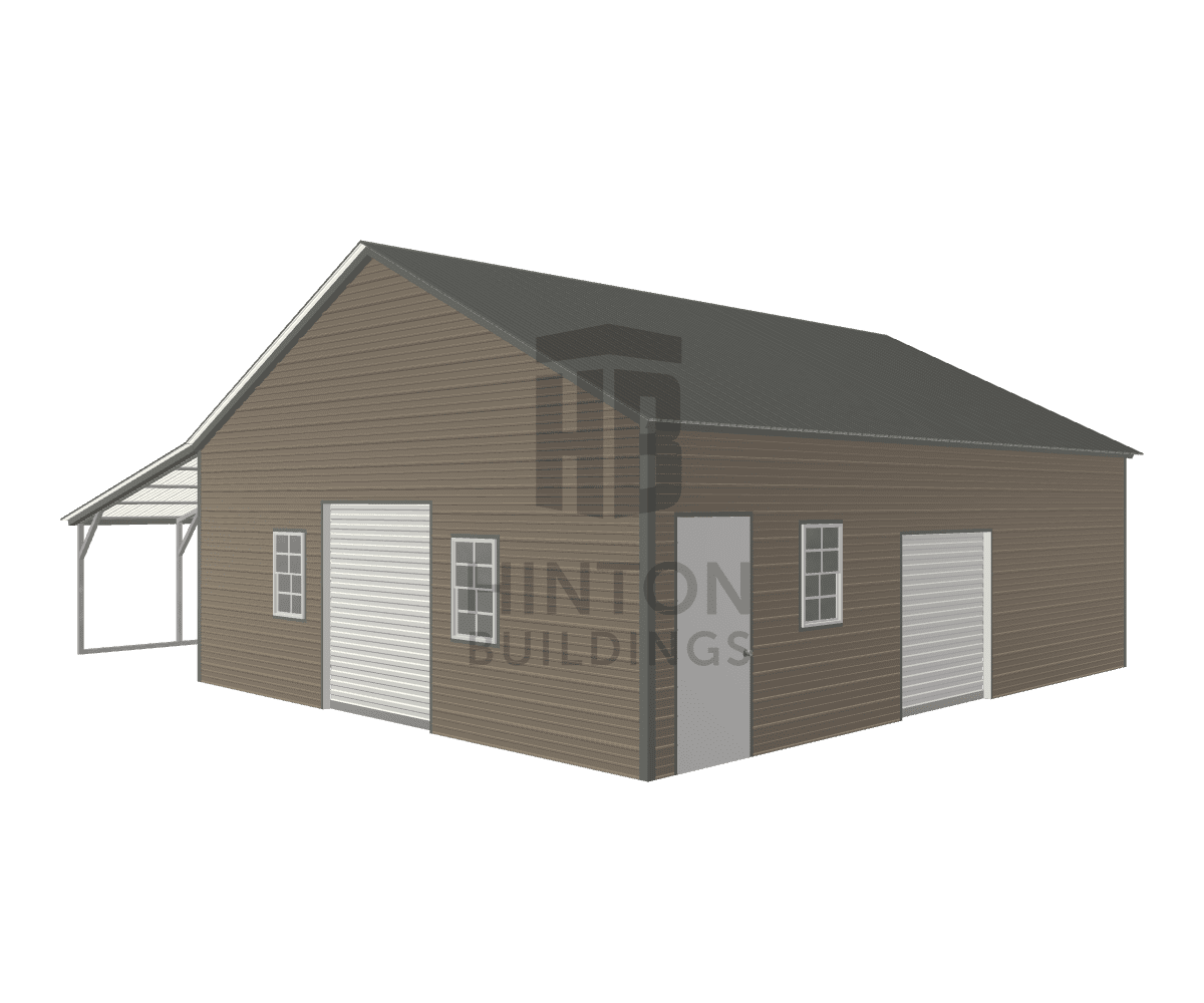 Steven from Jamesvillle, NC designed this 24,12x30,30x9,6 building with our 3D Building Designer.
