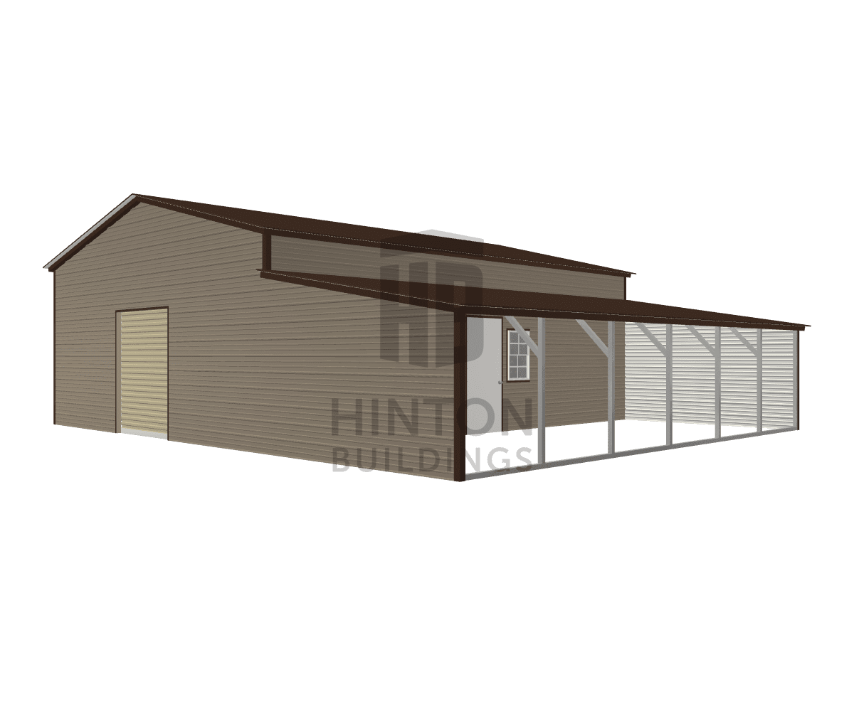 Buffie from Sims, NC designed this 24,12x30,30x10,6 building with our 3D Building Designer.