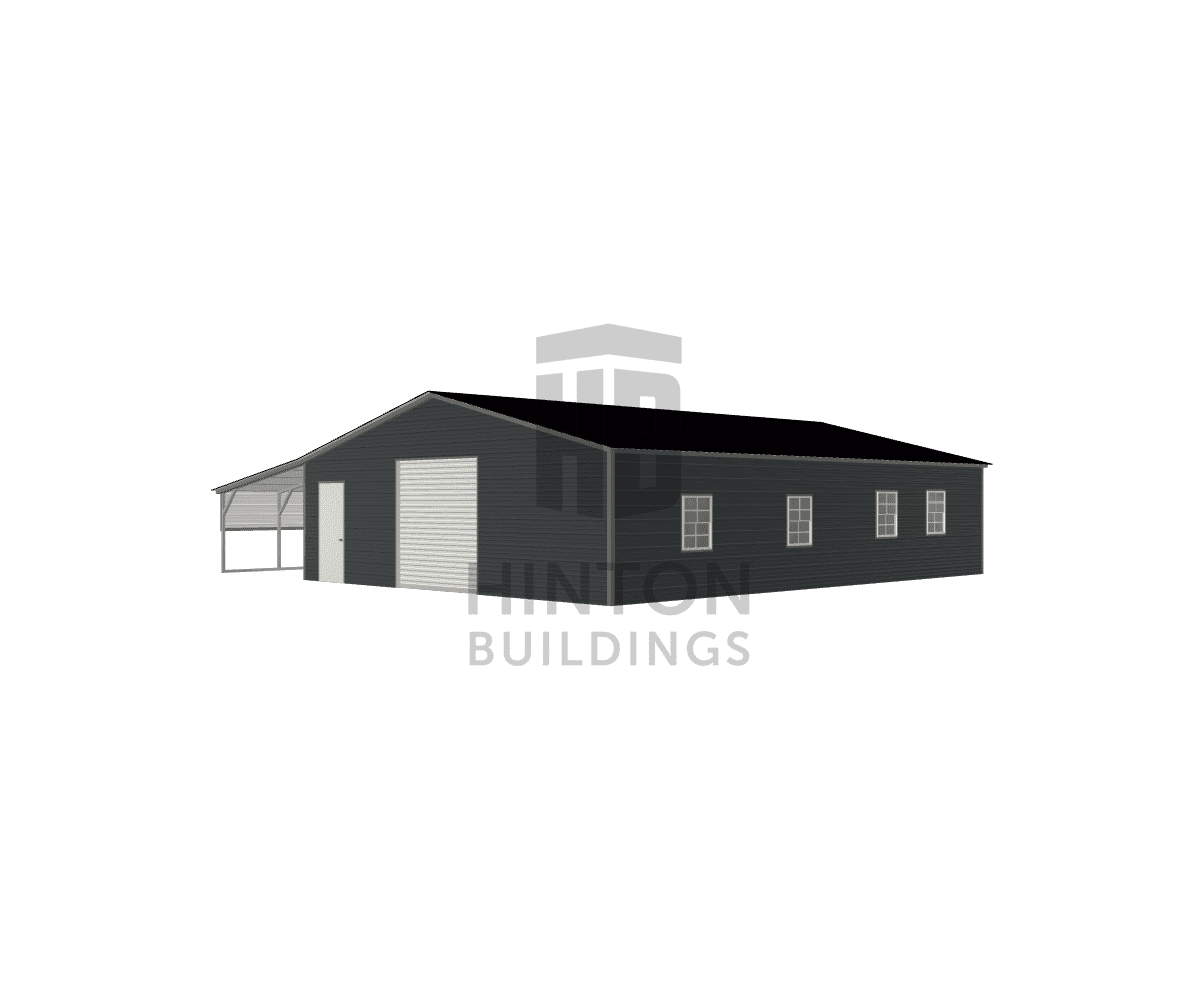 Hunter from benson, NC designed this 30,12x40,40x8,6 building with our 3D Building Designer.