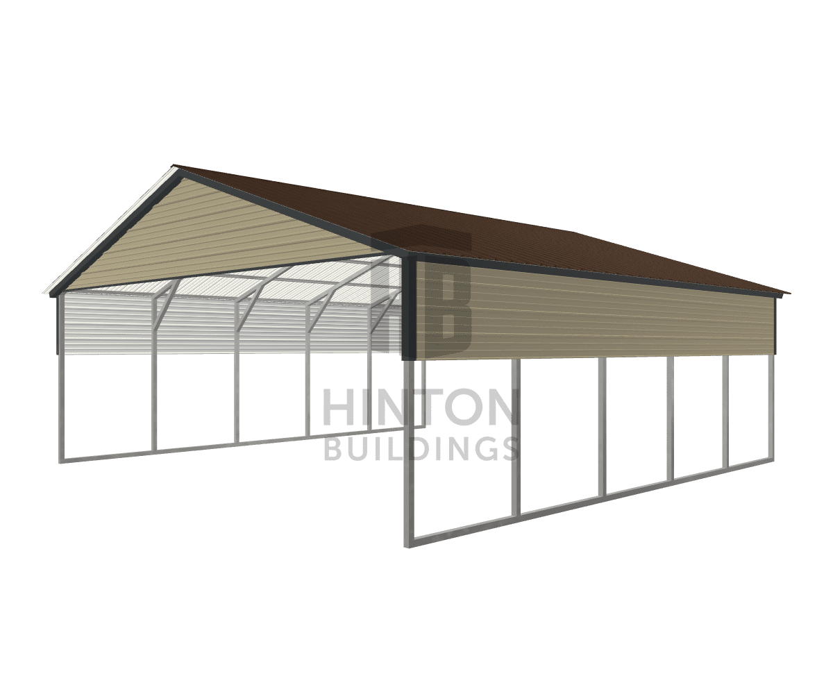 Pamela from Knoxville, AL designed this 24x25x8 building with our 3D Building Designer.