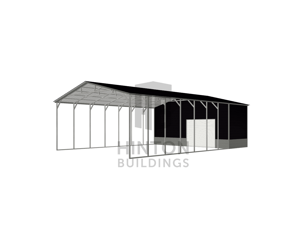 patrick from Four Oaks, NC designed this 28x45x12 building with our 3D Building Designer.