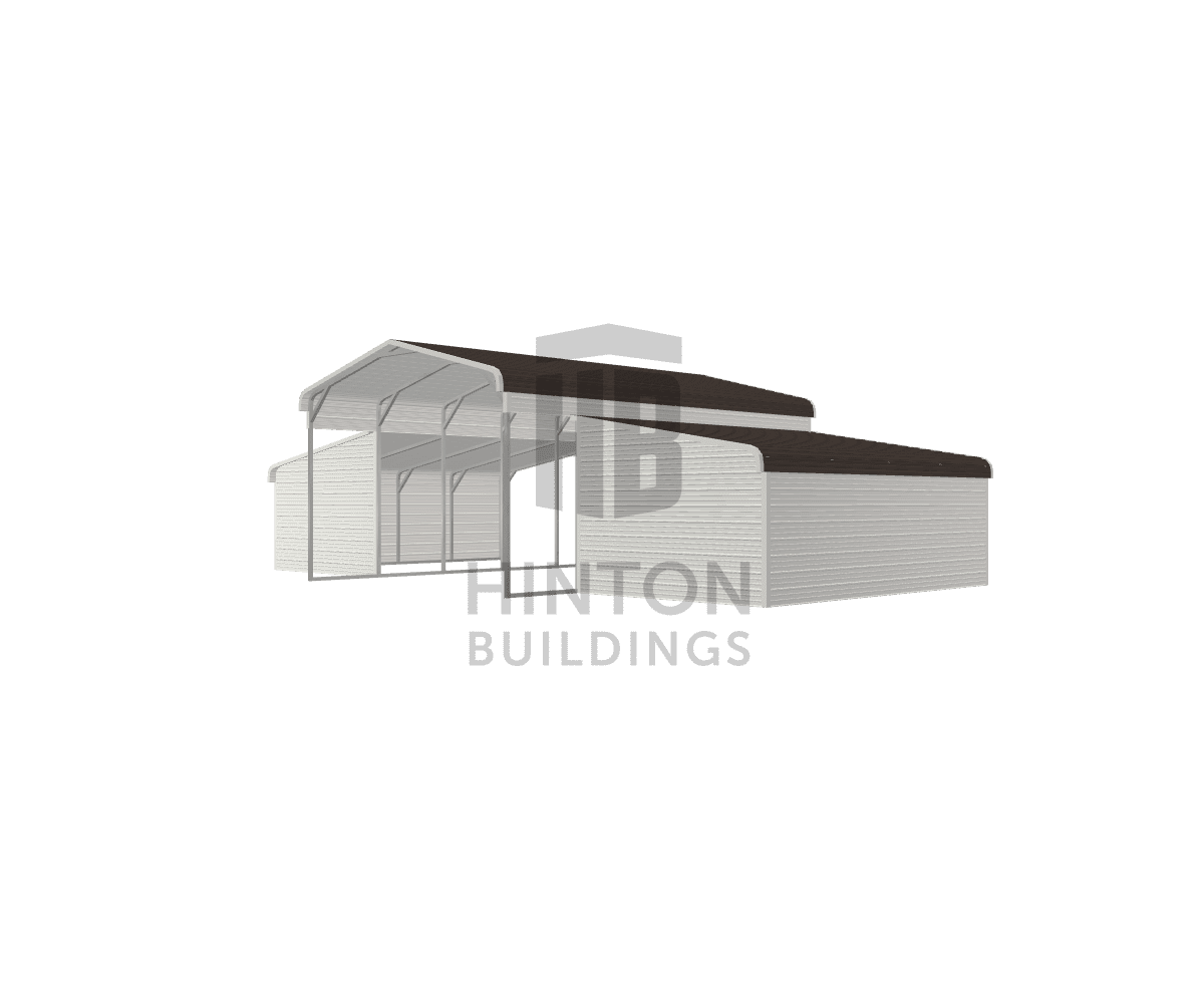 lisa from Hurdle Mills, NC designed this 18,12,12x25,20,20x10,6,6 building with our 3D Building Designer.