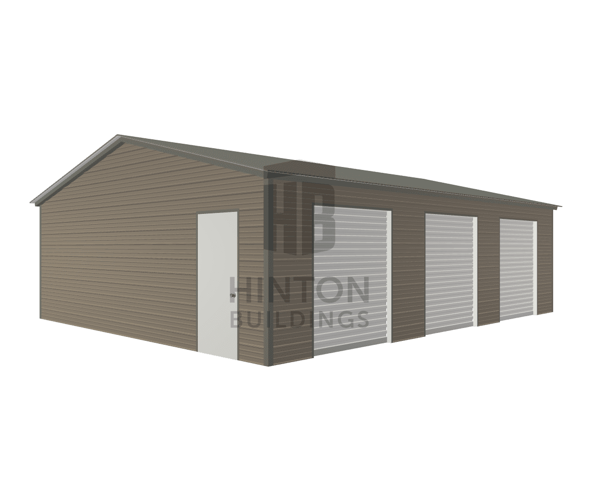 Michael from Dunn, NC designed this 24x30x8 building with our 3D Building Designer.