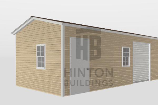 Paris from , NC designed this 12x25x8 building with our 3D Building Designer.