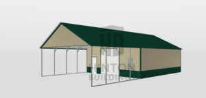 Jenny from Kenly, NC designed this 28x50x10 building with our 3D Building Designer.