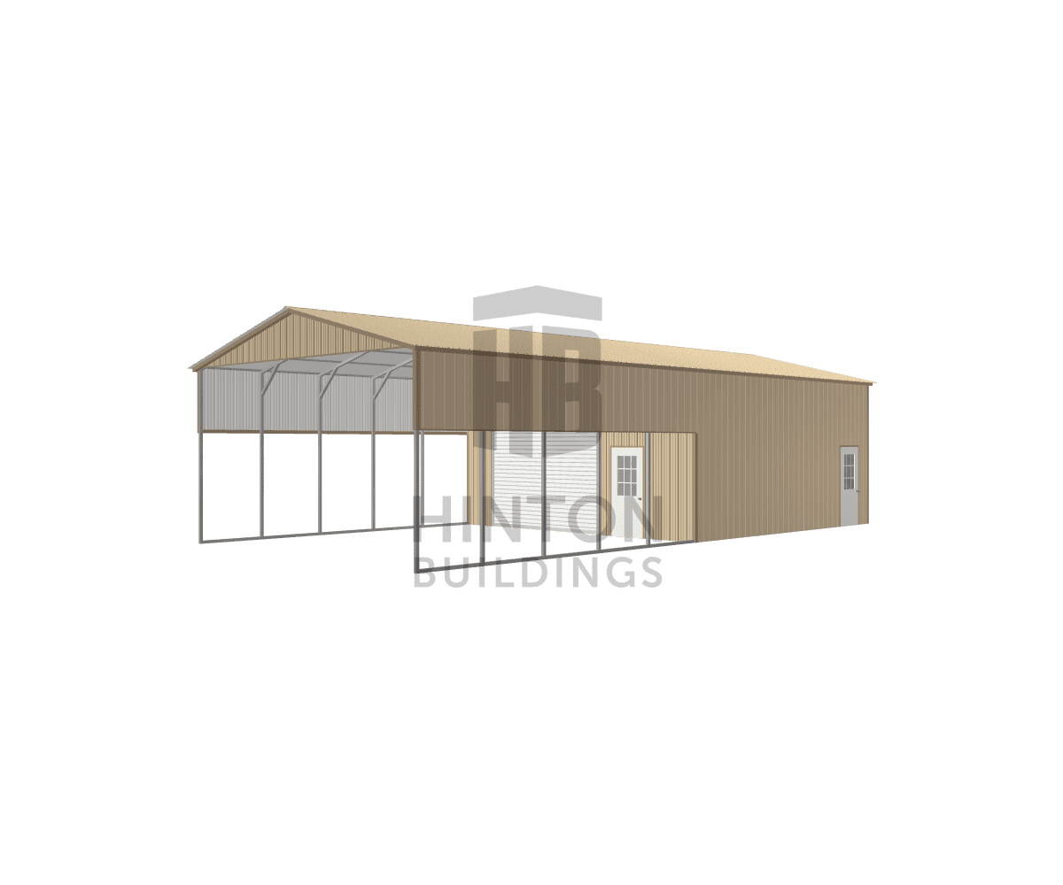 Tom from Holly Springs, NC designed this 24x50x12 building with our 3D Building Designer.