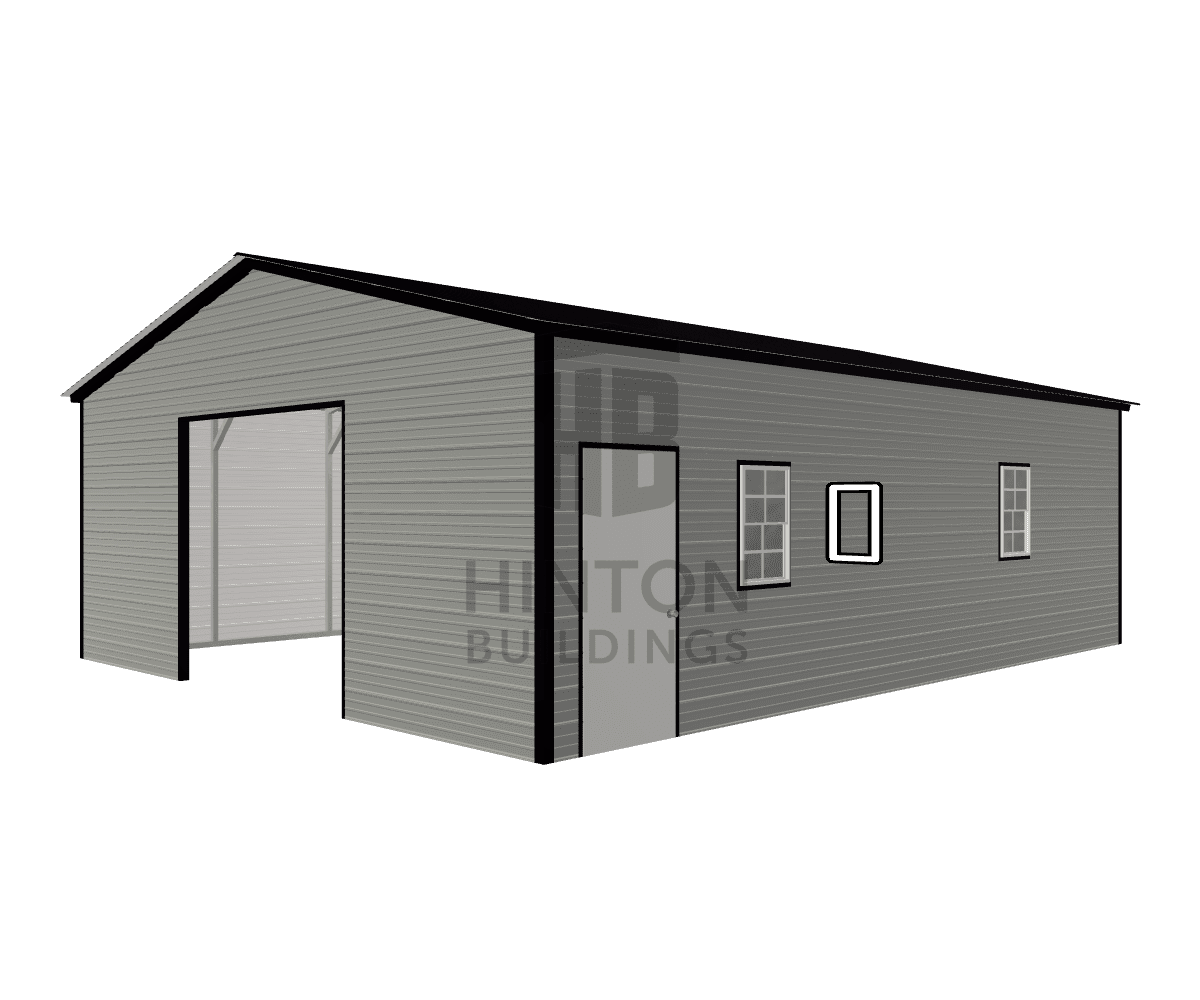 Kyle from Snow Hill, NC designed this 24x30x9 building with our 3D Building Designer.