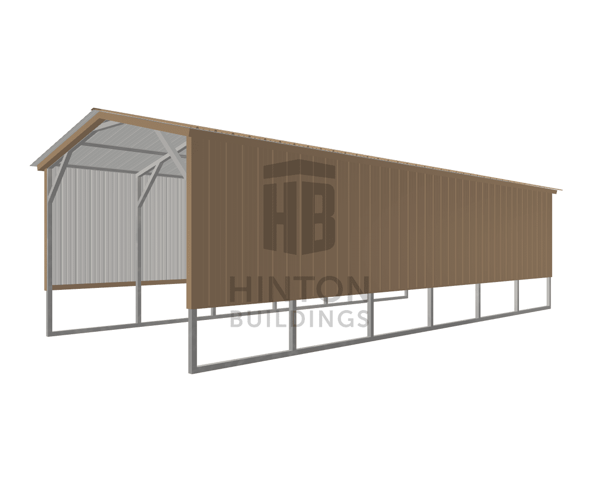 Matt from Pikeville, NC designed this 12x30x8 building with our 3D Building Designer.