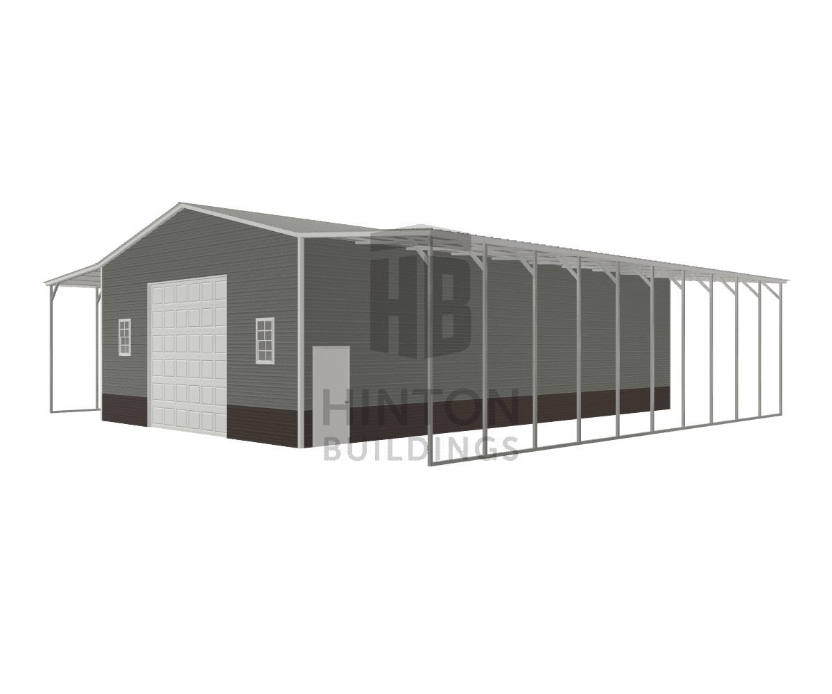 Dustin from Goldsboro , NC designed this 30,12,12x50,50,50x14,13,13 building with our 3D Building Designer.