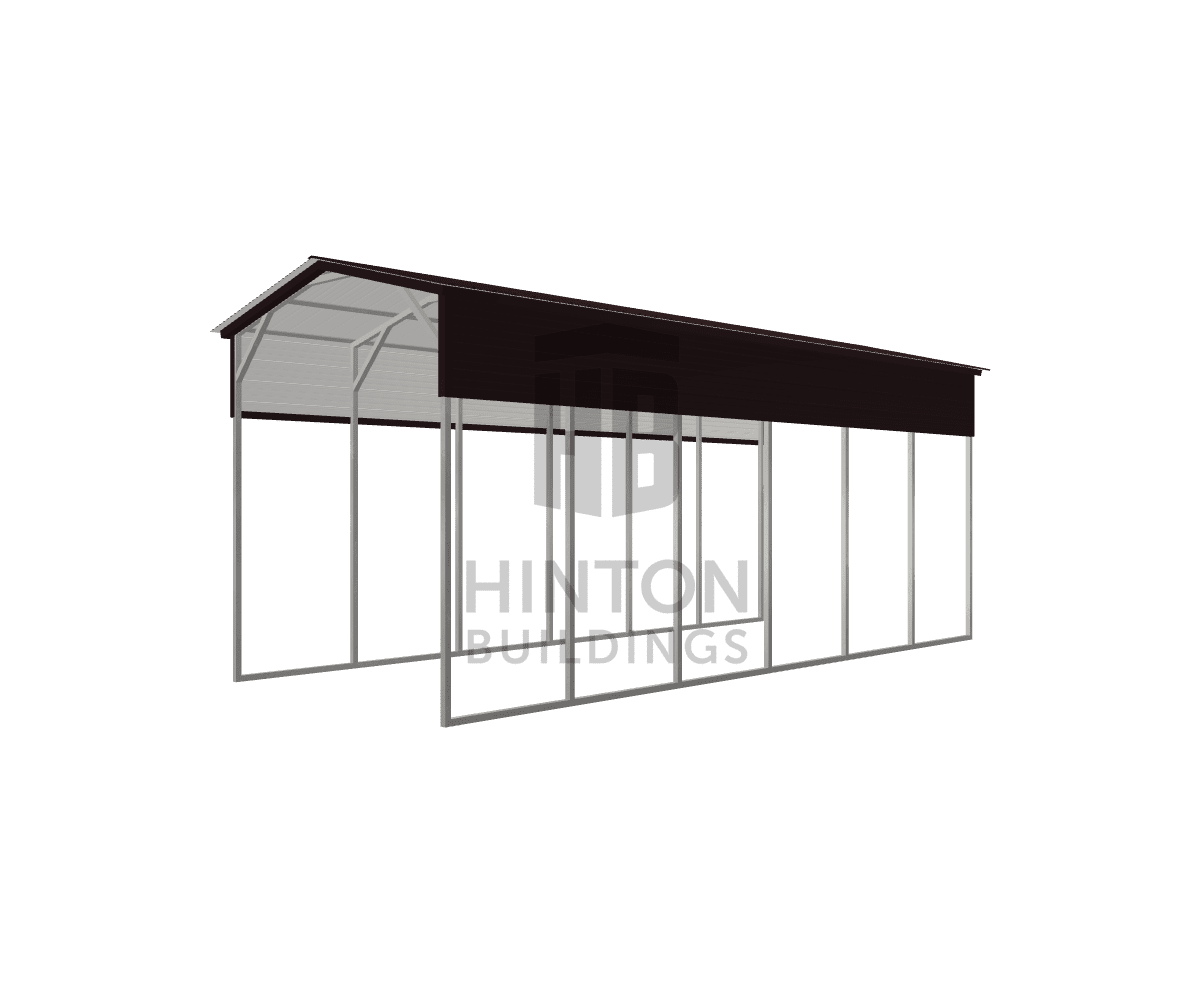 Kelly from Linden, NC designed this 12x30x12 building with our 3D Building Designer.