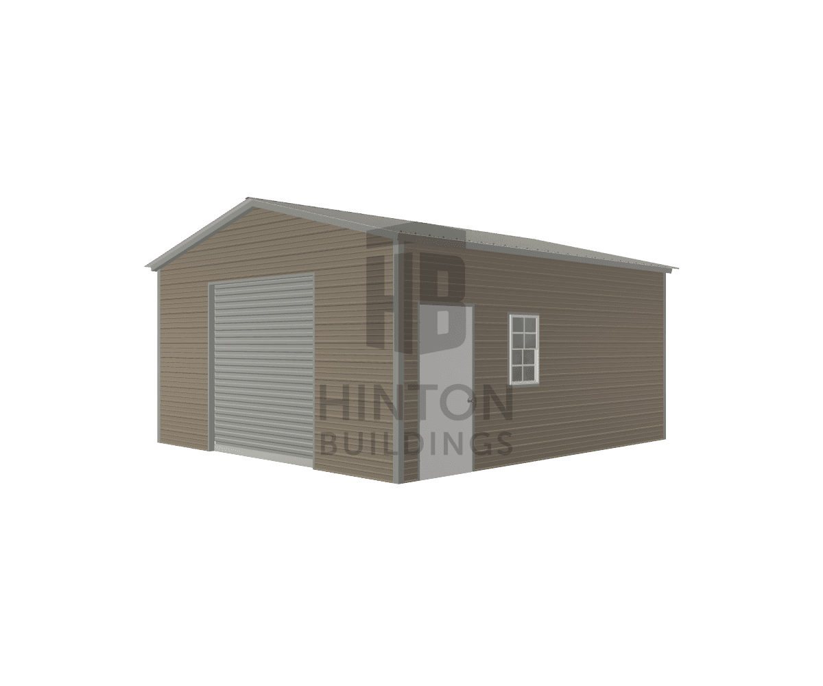 Jason from Goldsboro, NC designed this 18x20x9 building with our 3D Building Designer.