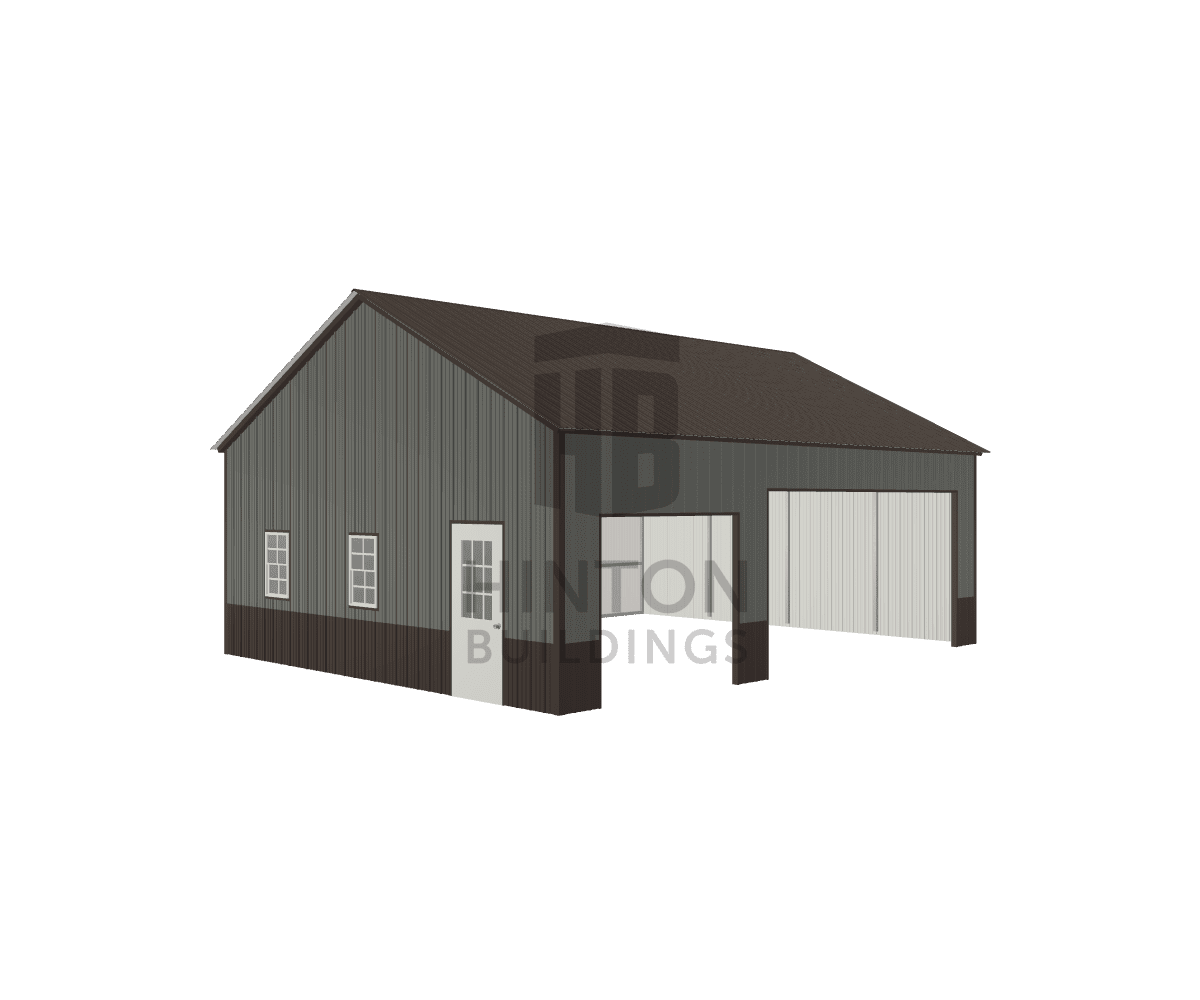 Geoffrey from Mount Holly, NC designed this 24x30x10 building with our 3D Building Designer.