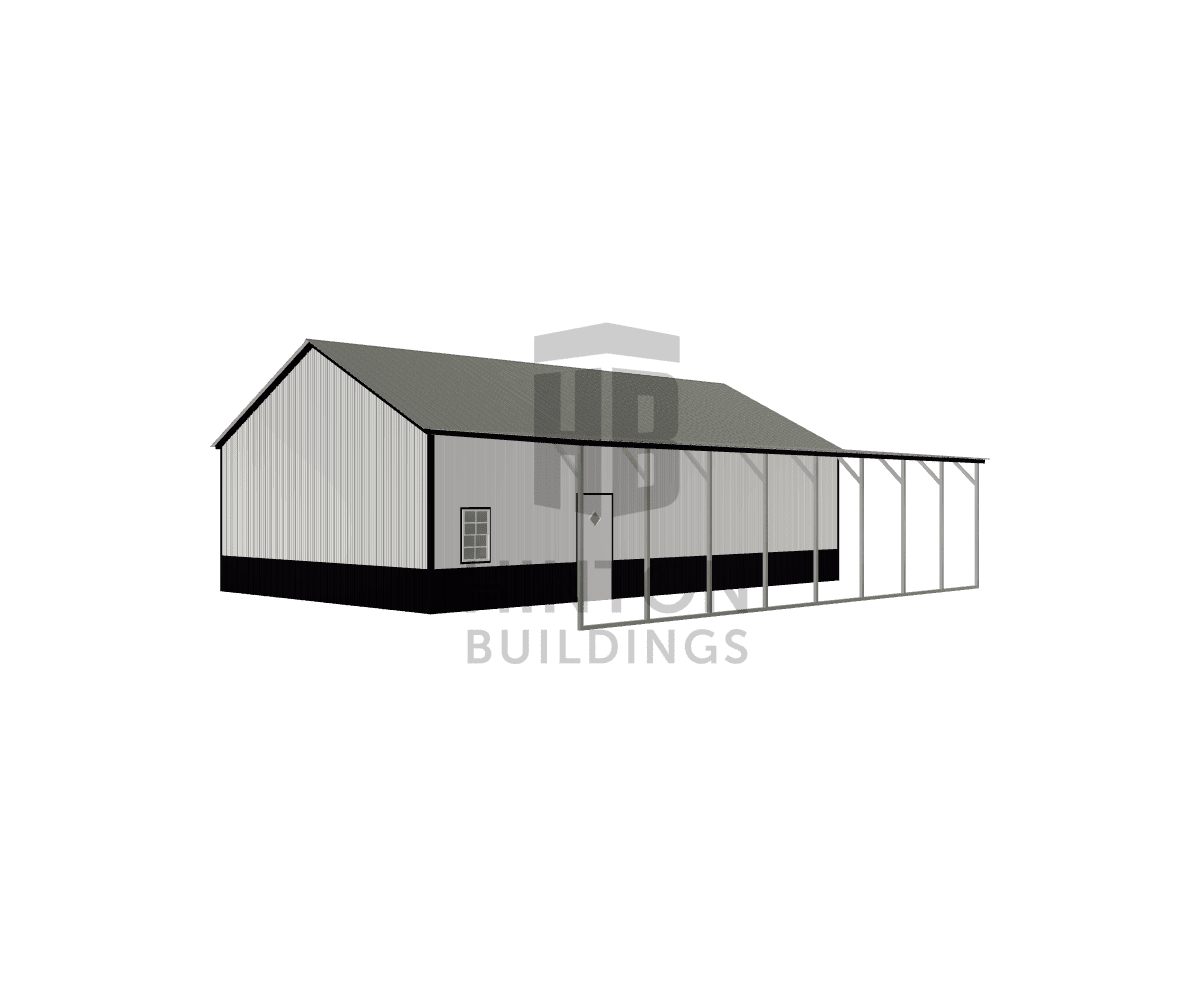 Ian from Hoschton, GA designed this 24,12x40,40x10,9 building with our 3D Building Designer.