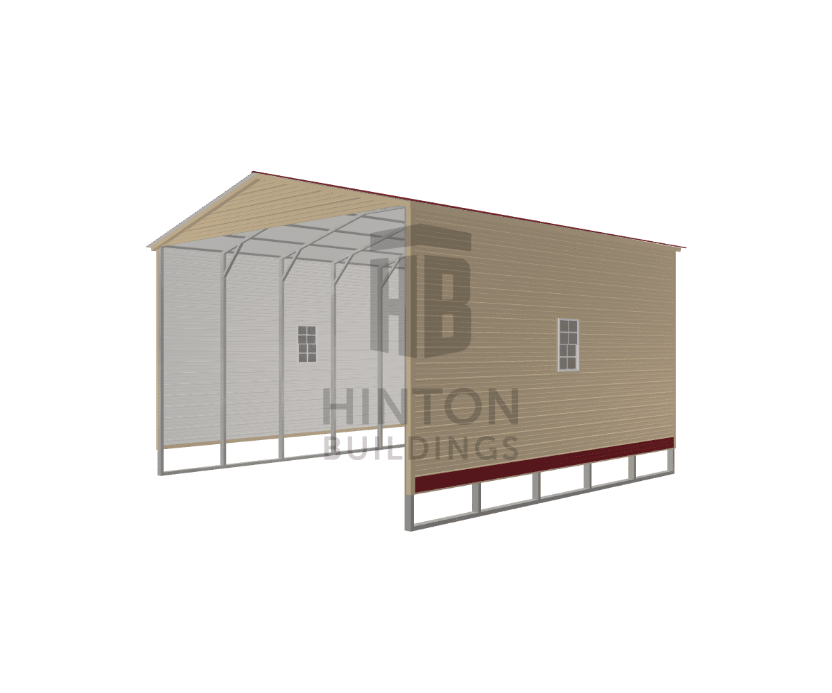 RONNIE from Mount Olive, NC designed this 24x25x15 building with our 3D Building Designer.