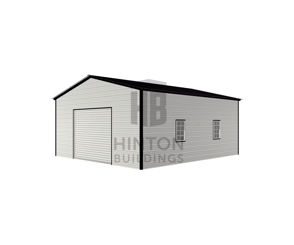Wes from Zebulon, NC designed this 22x25x10 building with our 3D Building Designer.