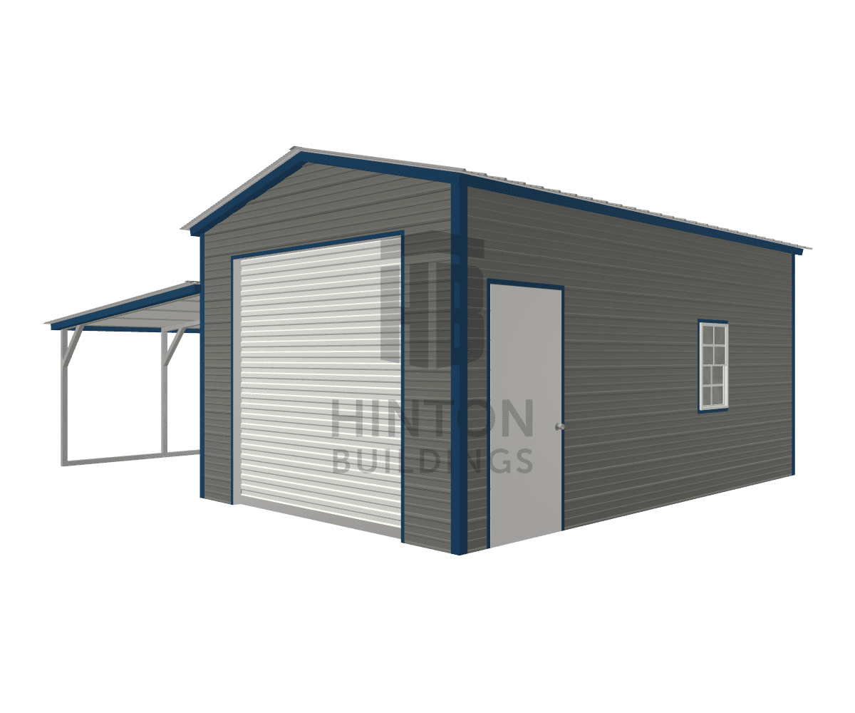 Eric from Kenly, NC designed this 12,12x20,20x9,6 building with our 3D Building Designer.