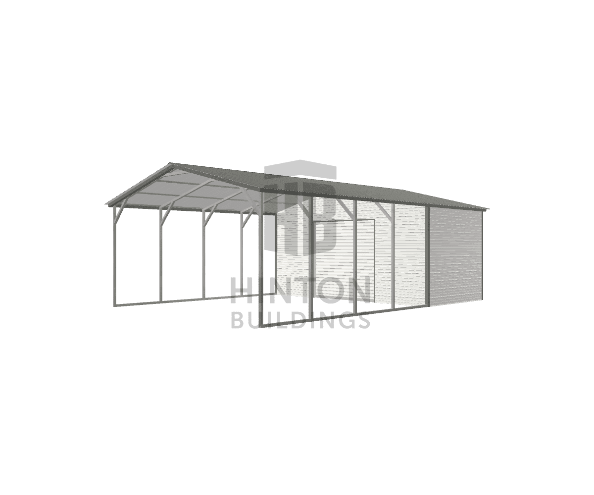 Rebekah from Four Oaks, NC designed this 20x30x9 building with our 3D Building Designer.
