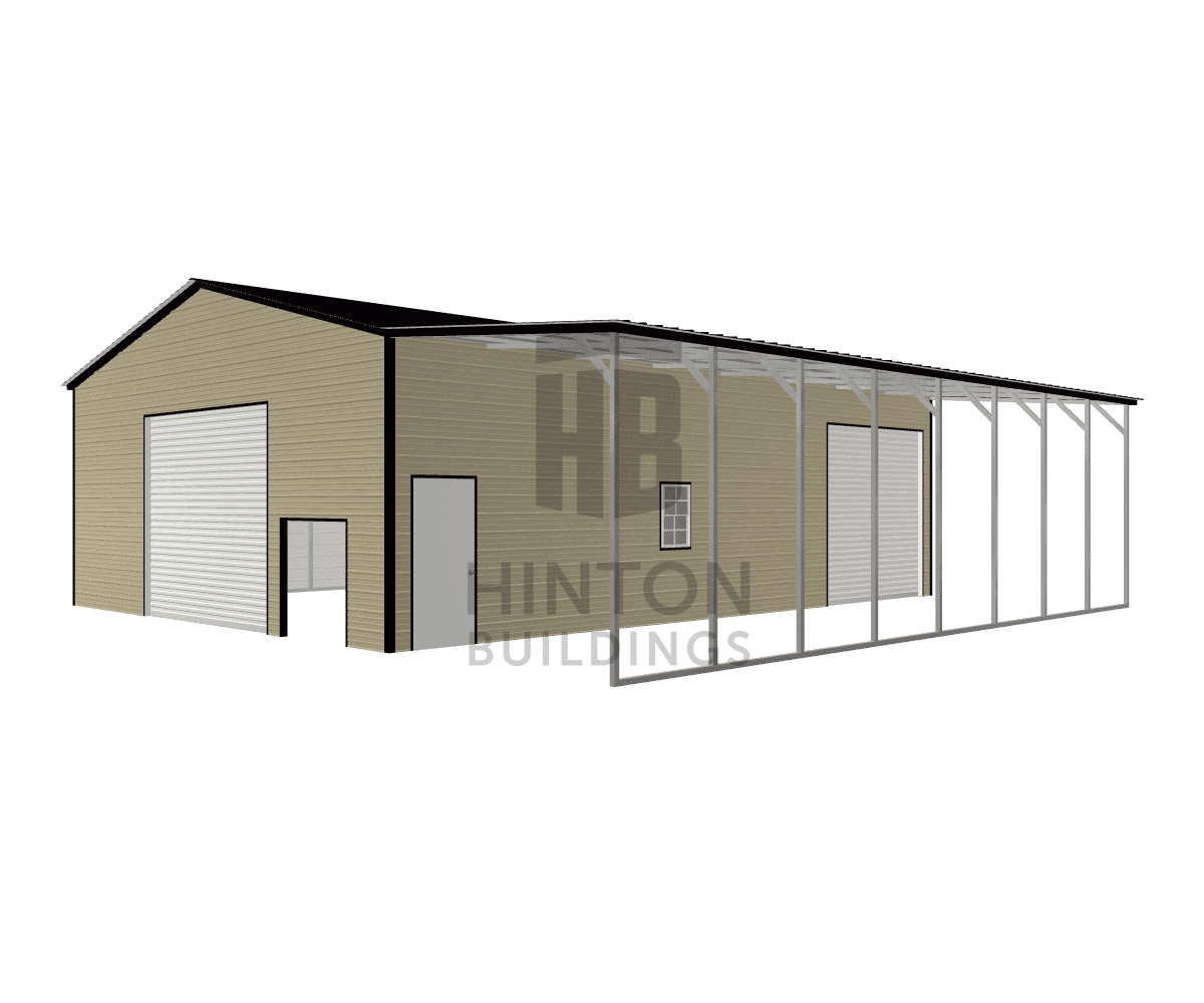 Chad from Clinton , NC designed this 30,12x40,40x12,11 building with our 3D Building Designer.