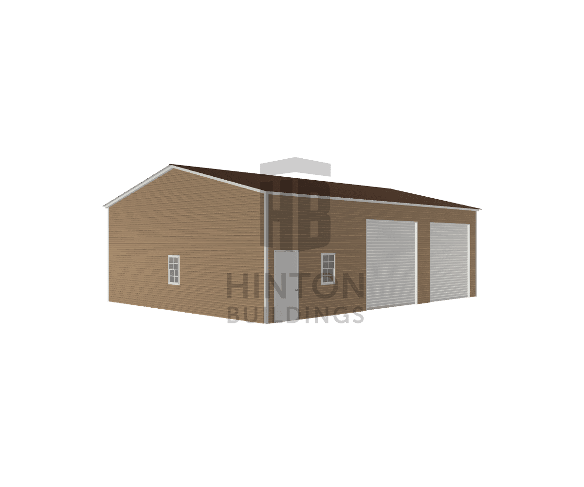 Jeff from GOLDSBORO, NC designed this 30x40x12 building with our 3D Building Designer.