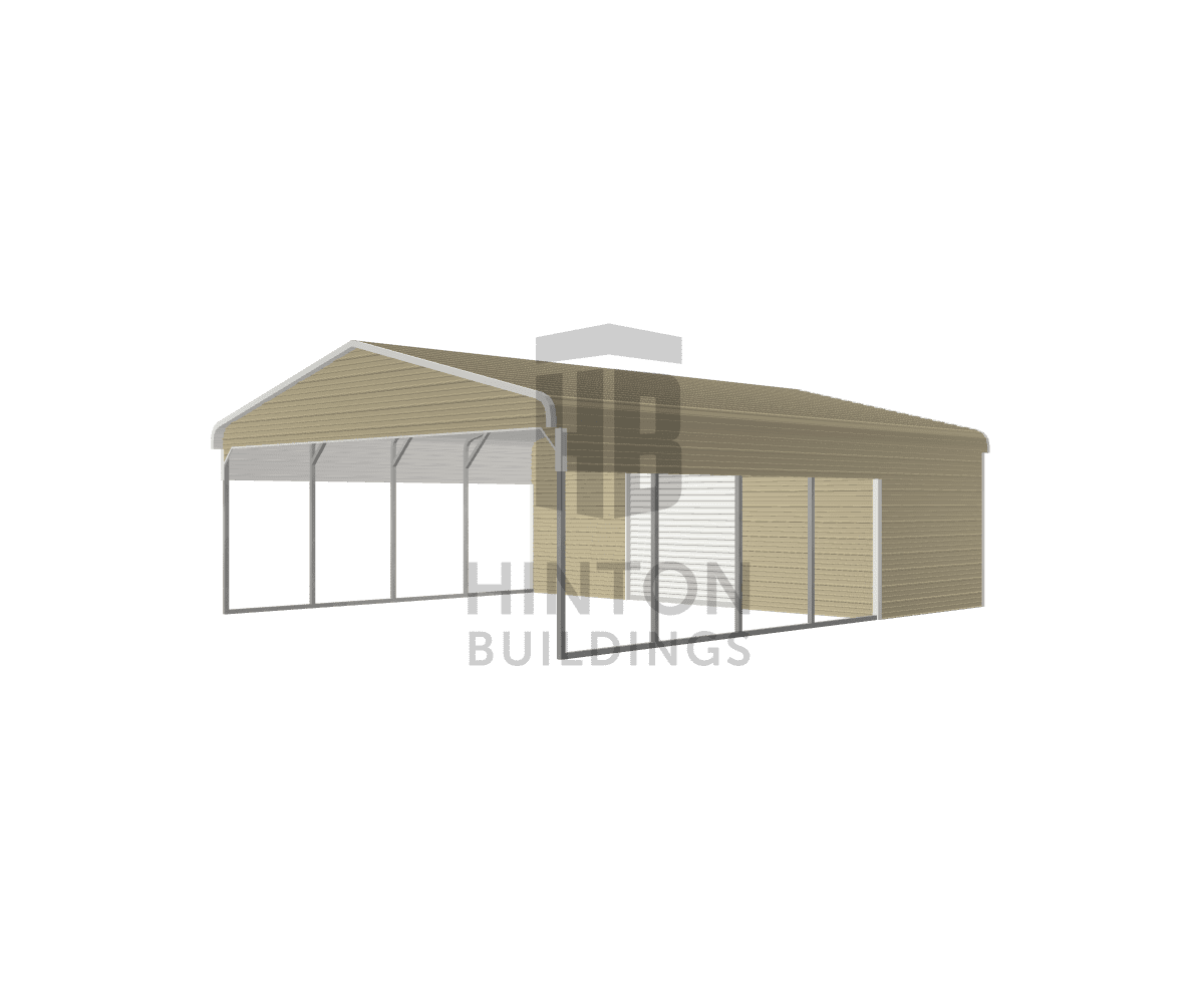Jeremy from Princeton, NC designed this 24x30x8 building with our 3D Building Designer.