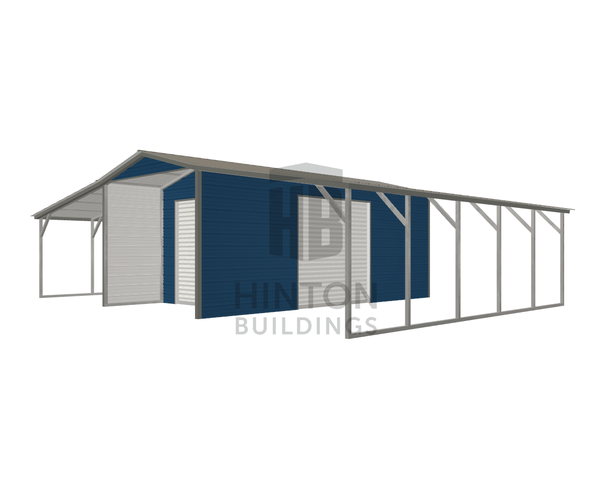 Andrew from Advance, NC designed this 12,12,12x25,25,25x9,7,7 building with our 3D Building Designer.